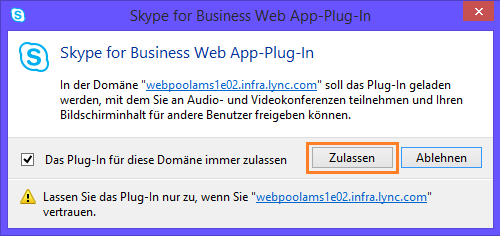 Lync Skype for Business Web App Plug-In