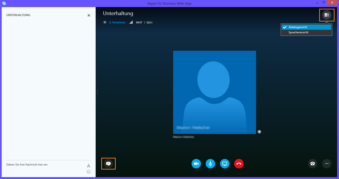Lync Skype for Business Chat