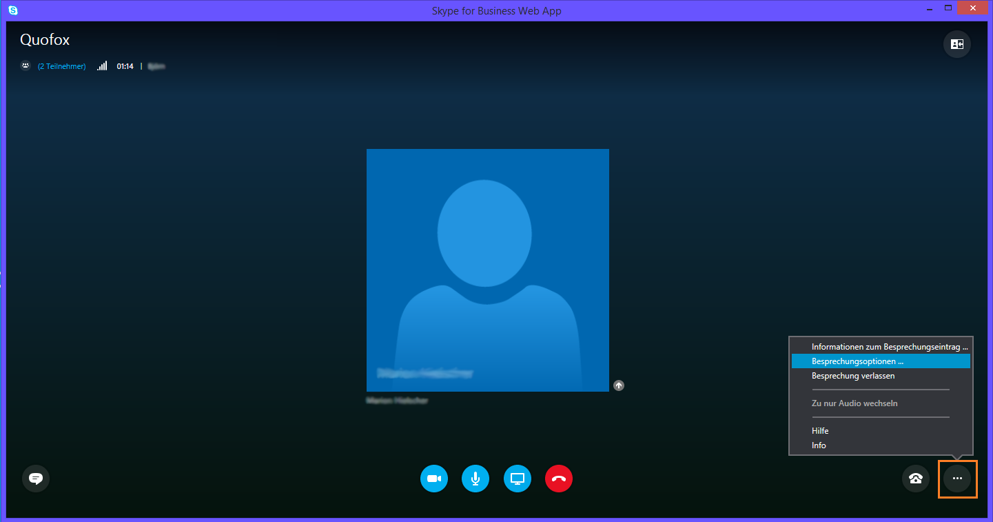 Lync Skype for Business Web App Virtueller Klassenraum 2