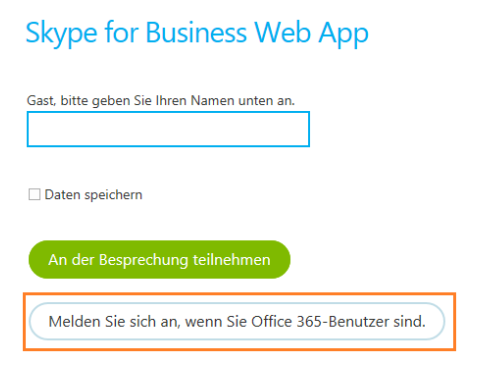 Lync Skype for Business Web App 2 Office 365