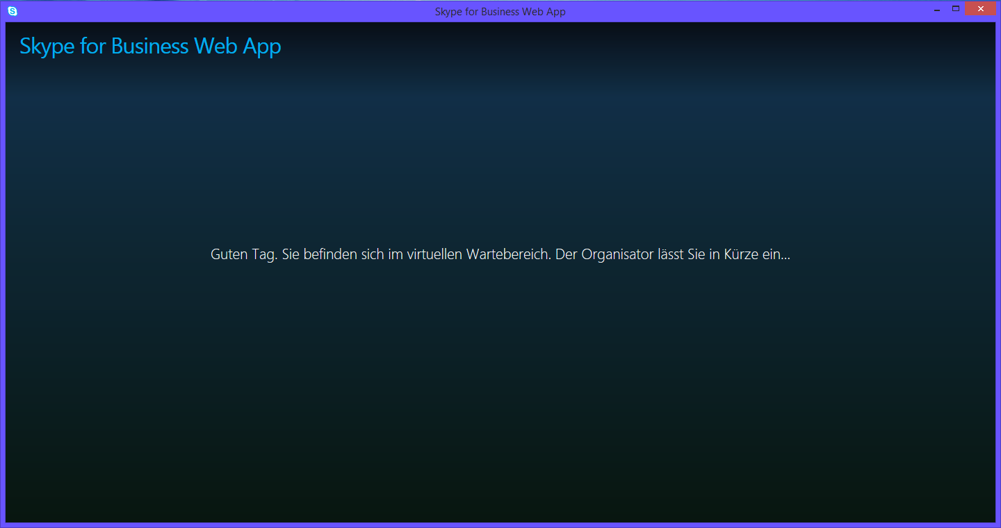Lync Skype for Business Web App Virtueller Klassenraum