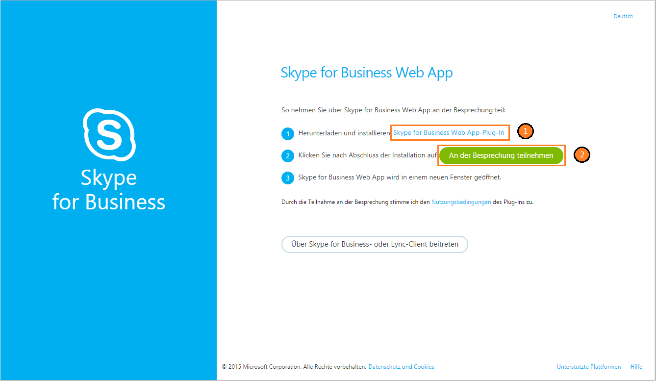 Lync Skype for Business Web App