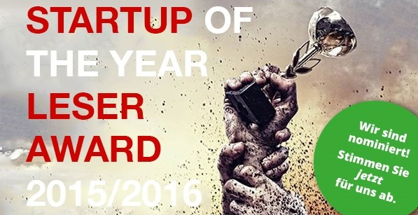 Startup of the Year Leser Award Nominierung