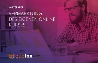 Marketing of the own online course - quofox