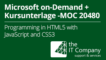 Microsoft on Demand Training 20480 - Mit Kursunterlage: Programming in HTML5 with JavaScript and CSS3 (90 Day) - von the IT Company GmbH - quofox
