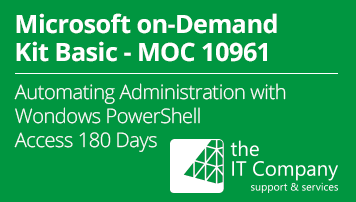Microsoft on Demand Kit Basic 10961 - Automating Administration with Windows PowerShell® (180 Day) - von the IT Company GmbH - quofox