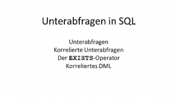 Unterabfragen in SQL - from Athanasios Manolopoulos - quofox
