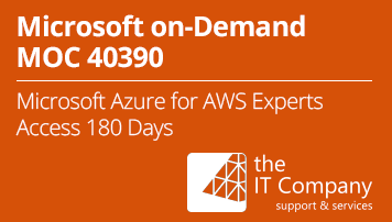Microsoft on Demand Training 40390 - Microsoft Azure for AWS Experts (180 Day) - from the IT Company GmbH - quofox