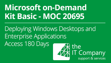 Microsoft on Demand Kit Basic 20695 - Deploying Windows Desktops and Enterprise Applications (180 Day) - from the IT Company GmbH - quofox