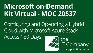 Microsoft on Demand Kit Virtual 20537 - Configuring and Operating a Hybrid Cloud with Microsoft Azure Stack (180 Day) - from the IT Company GmbH - quofox